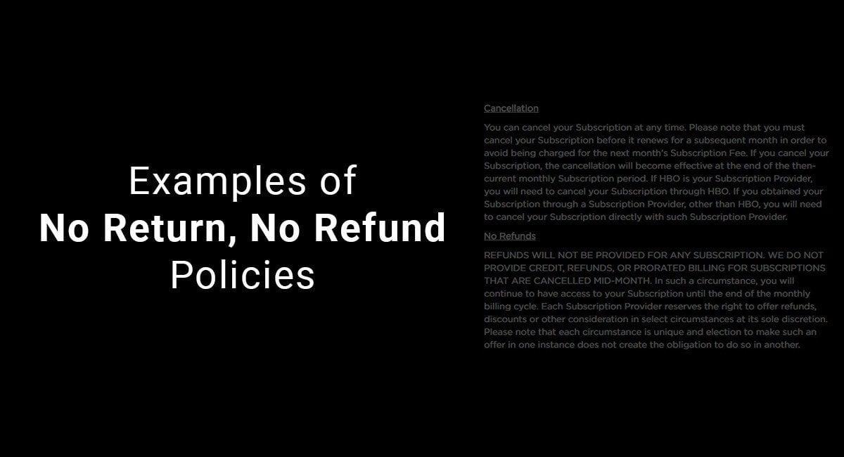 4ad24338a922 Examples of No Return