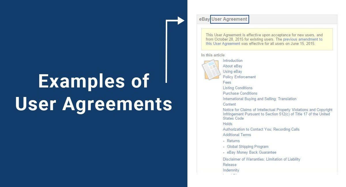 Examples of User Agreements