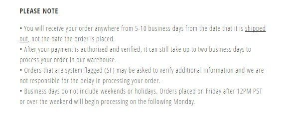 Jeffrey Campbell Shoes Shipping Policy: Please note section