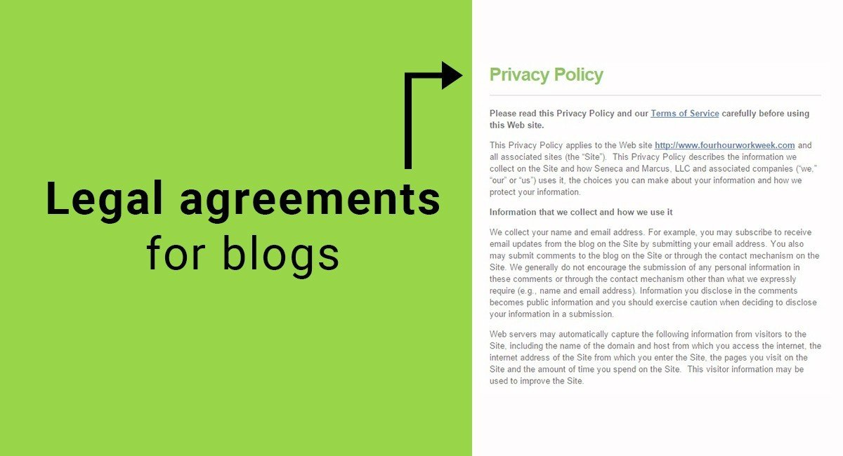 Legal agreements for blogs termsfeed for Termsfeed