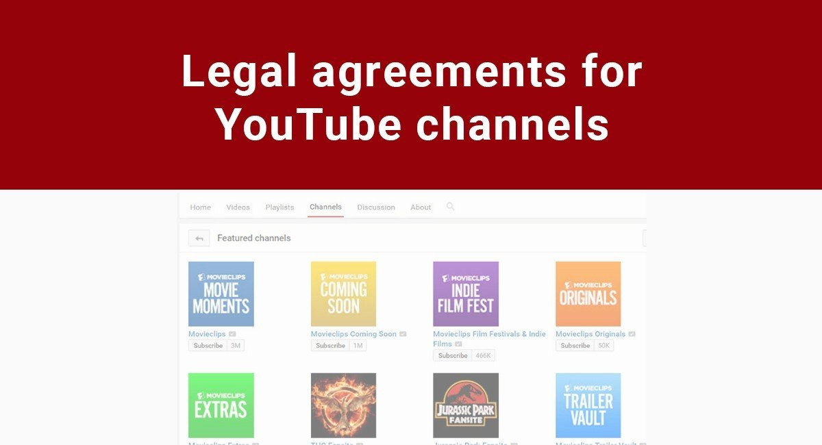 Image for: Legal Agreements for YouTube channels