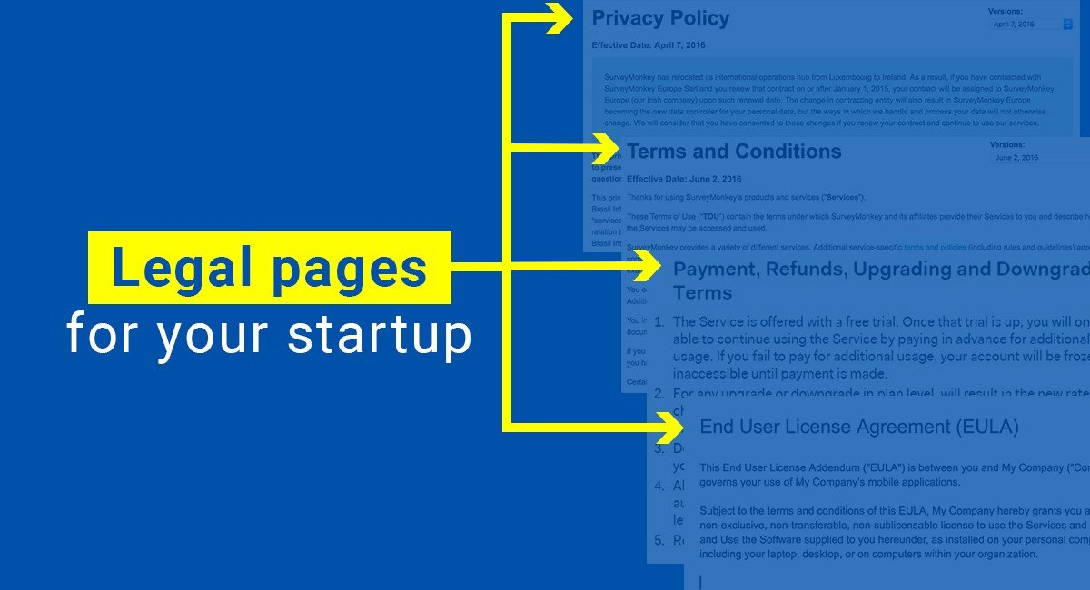 Image for: Legal pages for your startup
