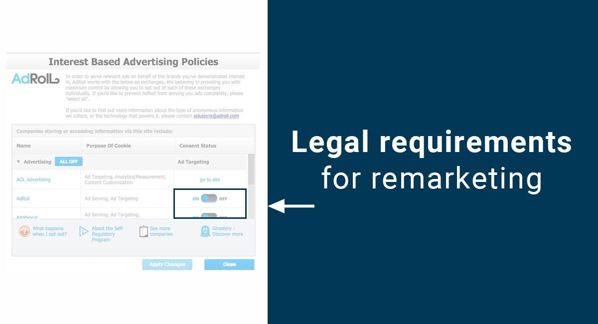 Legal Requirements for Remarketing