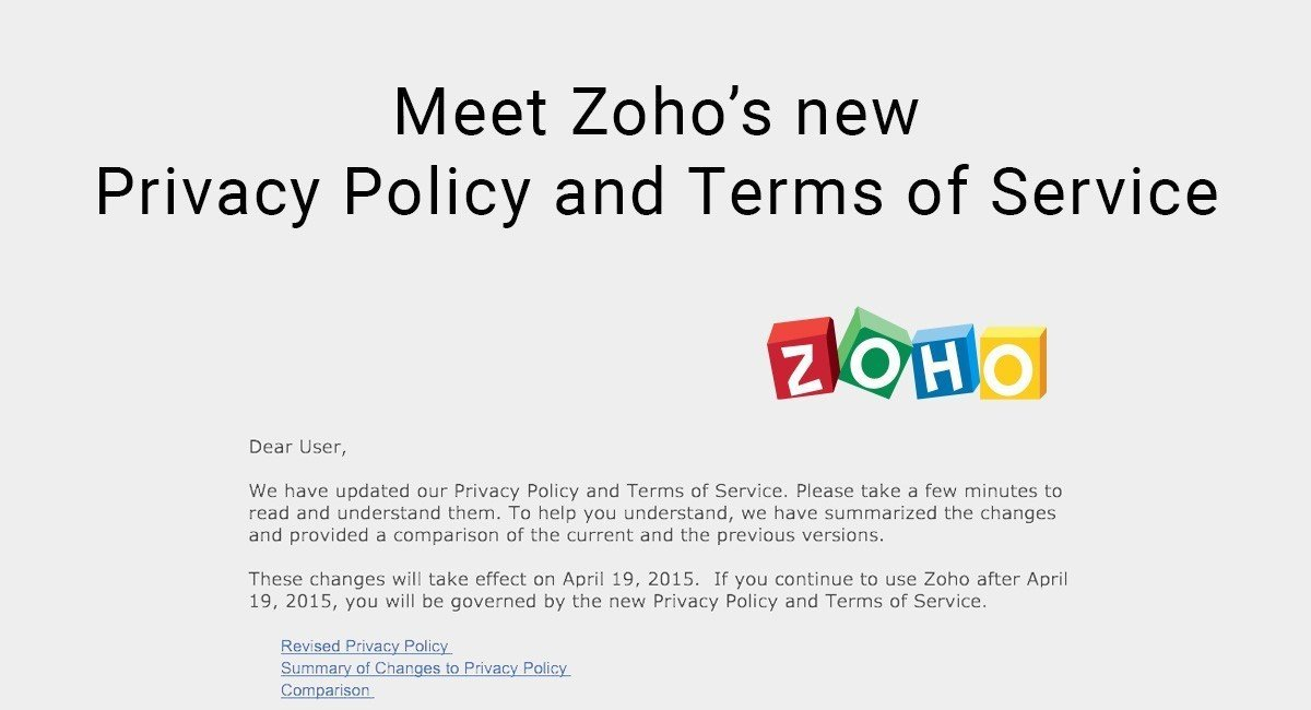 Image for: Meet Zoho's new Privacy Policy and Terms of Service