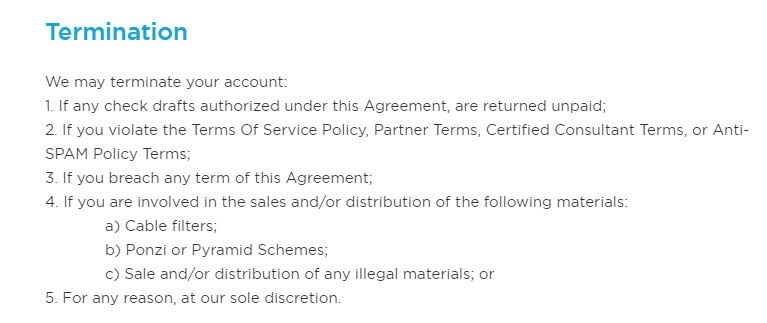 Termination clause in Terms and Conditions TermsFeed – Contract Termination Agreement