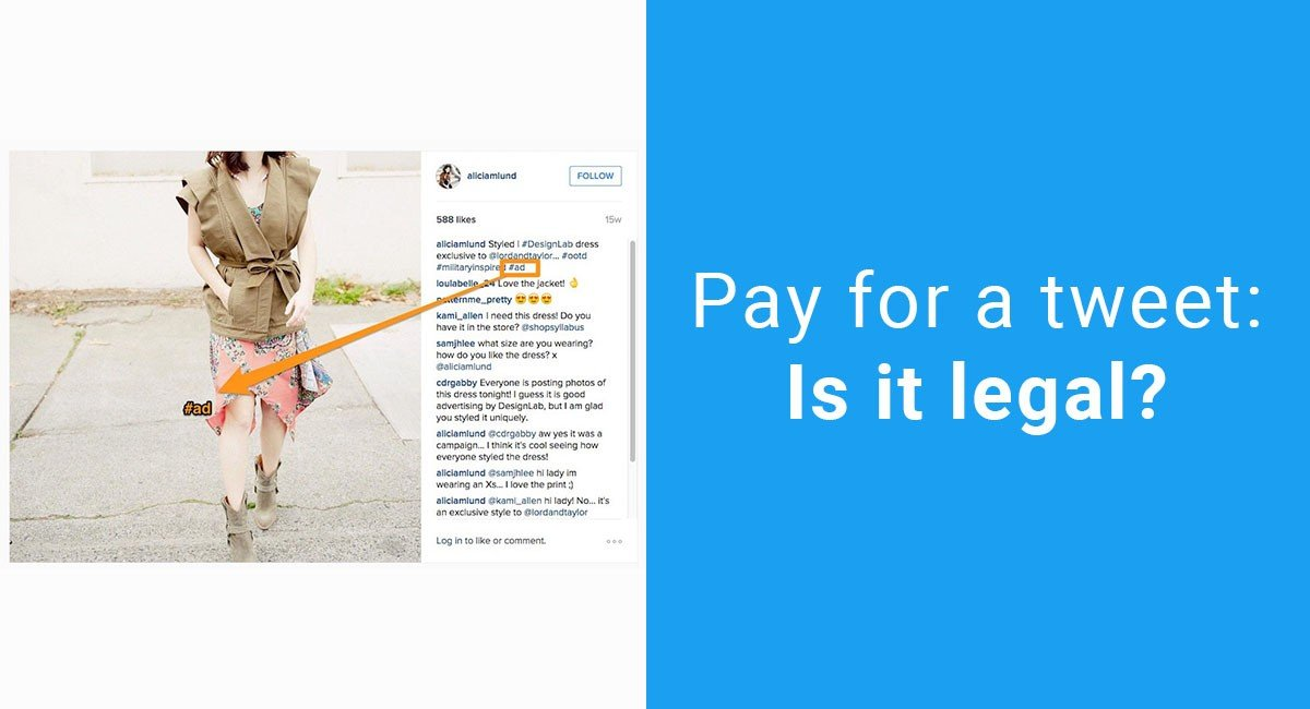 Pay for a Tweet: Is it legal?