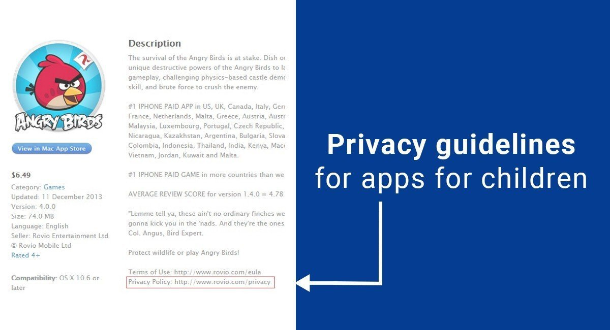 Image for: Privacy guidelines for apps for children