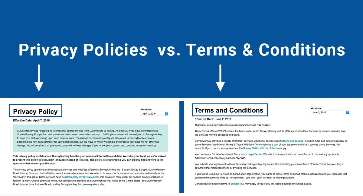Privacy Policies Vs Terms Conditions