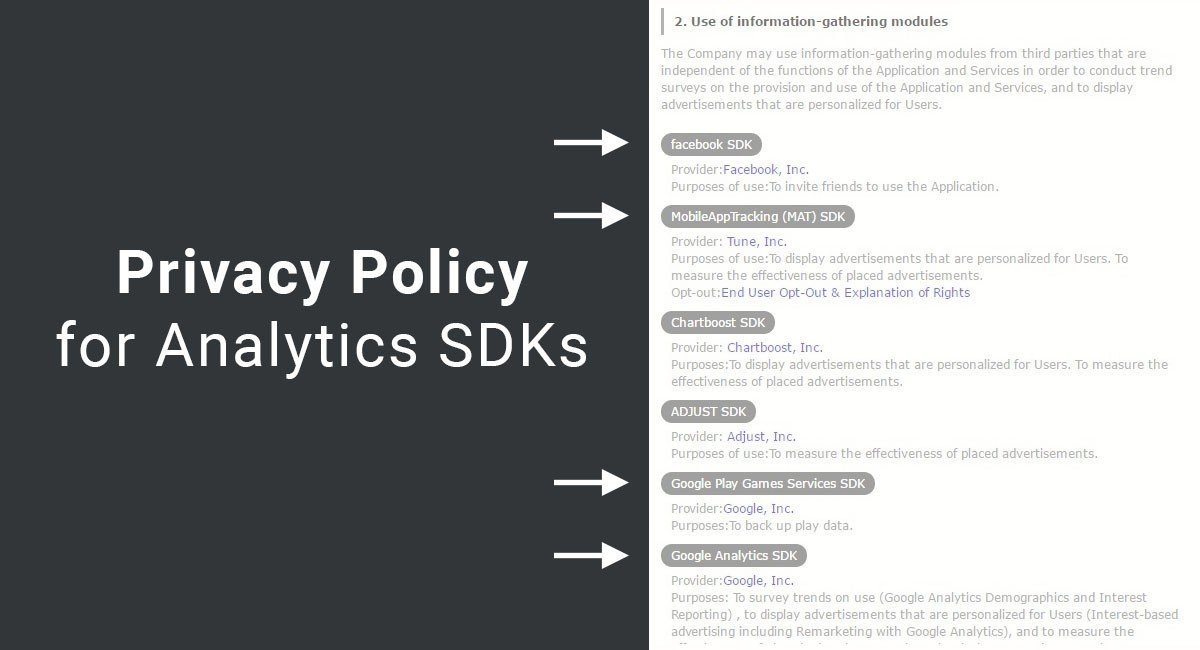 Privacy Policy for Analytics SDKs