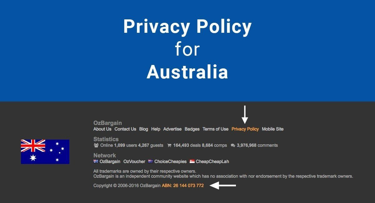 Privacy Policy For Australia TermsFeed - Website privacy policy template