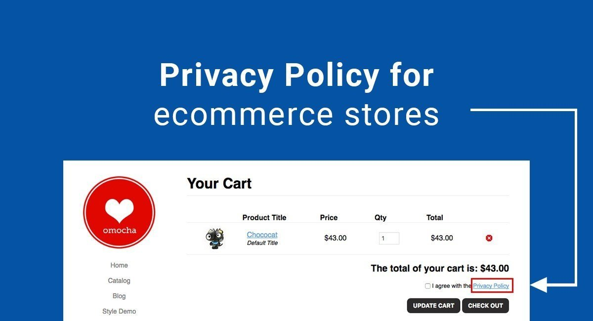 Privacy Policy For Ecommerce Stores TermsFeed - Online store policies template