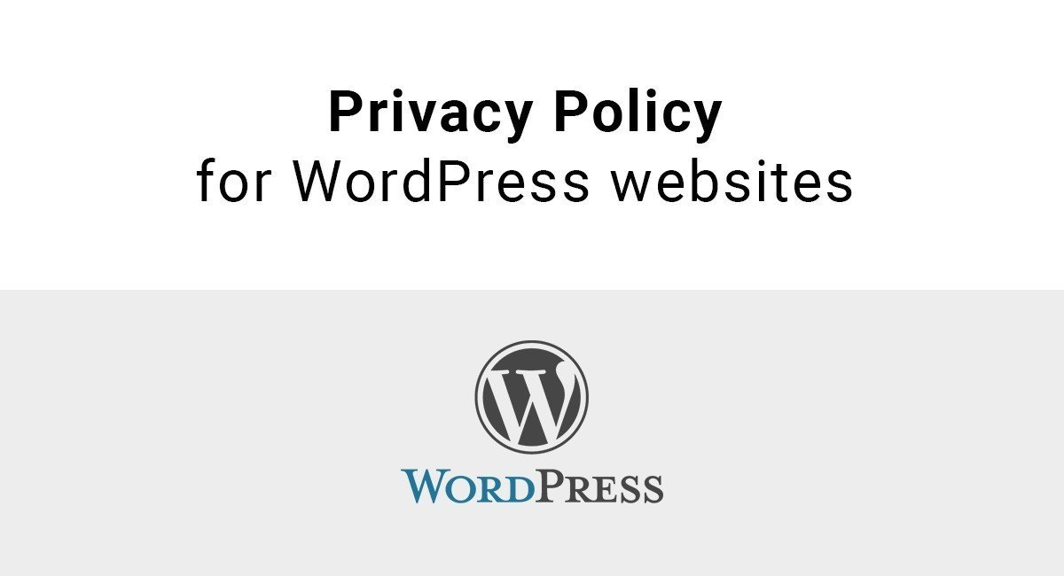 Image for: Privacy Policy for WordPress Websites