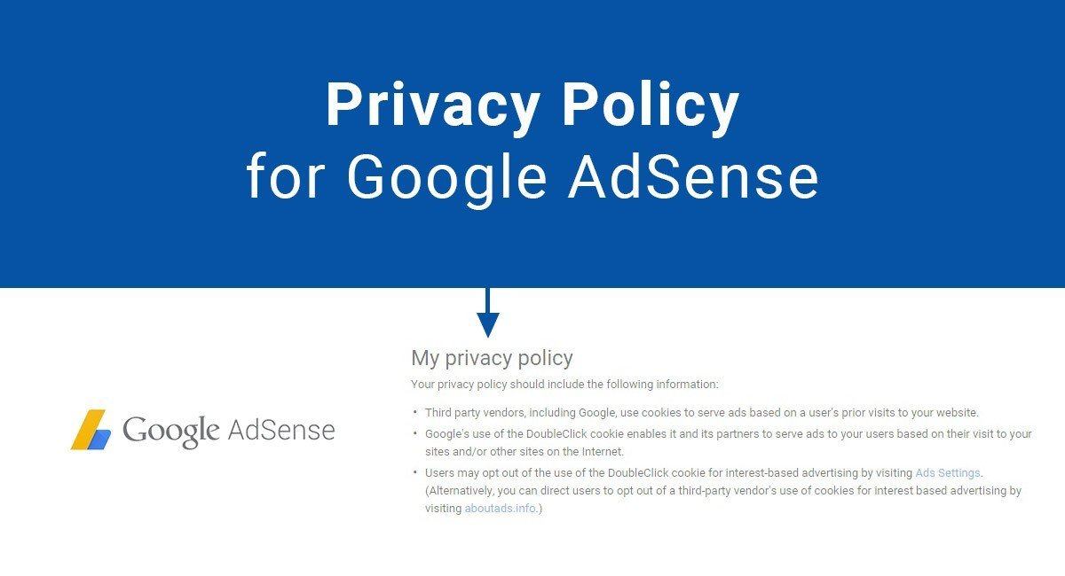 Privacy Policy for Google AdSense