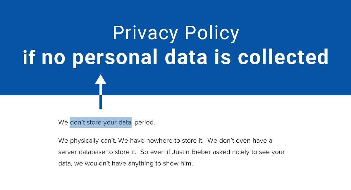 Image for: Privacy Policy if No Personal Data is Collected