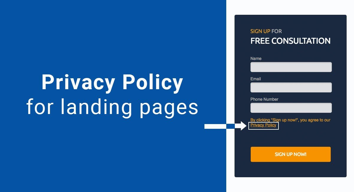 Image for: Privacy Policy for landing pages