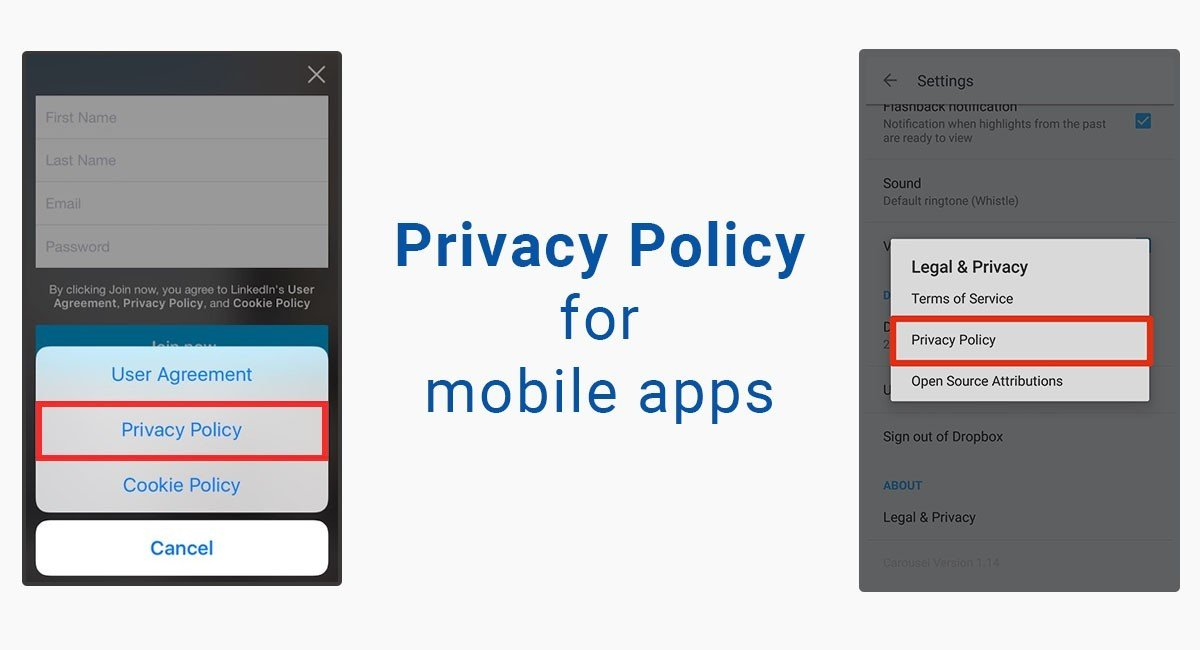 Nice privacy policy template for apps photos free for Mobile app privacy policy template