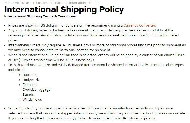 Sample Shipping Policy Template - Termsfeed