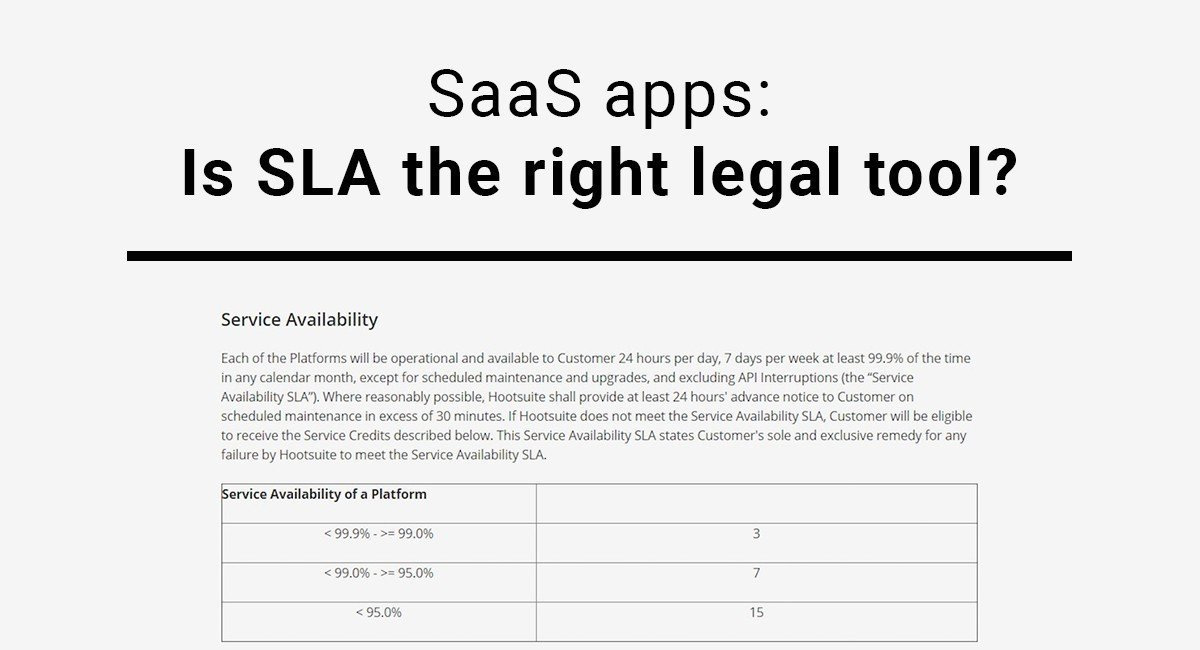 Image for: SaaS Apps: Is SLA the Right Legal Tool?