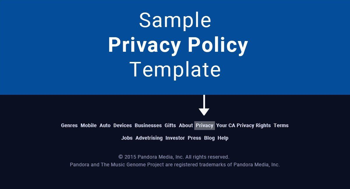 Sample privacy policy template termsfeed for Corporate privacy policy template
