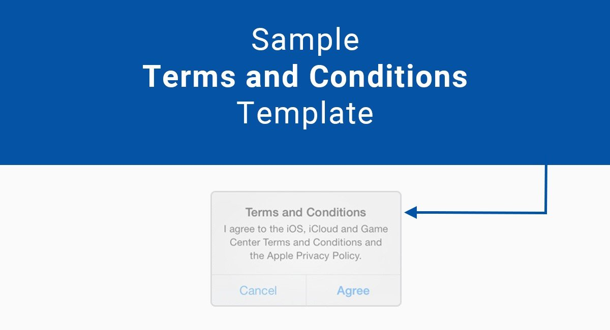 Terms Of Use And Privacy Policy Template Sample Terms And Conditions Template TermsFeed