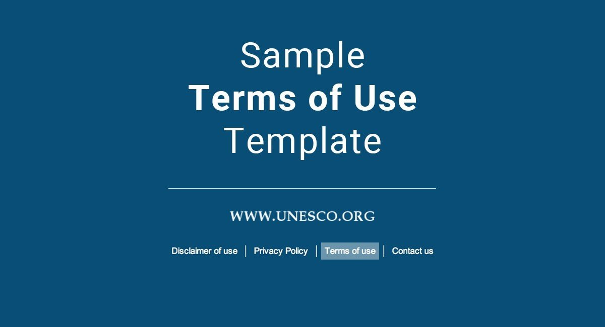 Sample Terms Of Use Template Termsfeed