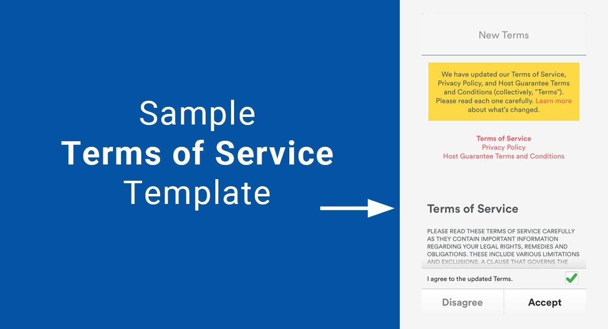 Terms Of Use And Privacy Policy Template Sample Terms Of Service Template TermsFeed