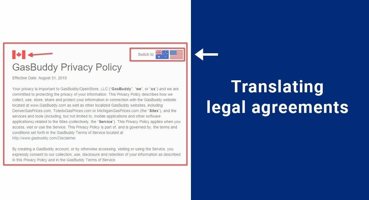 Image for: Translating legal agreements
