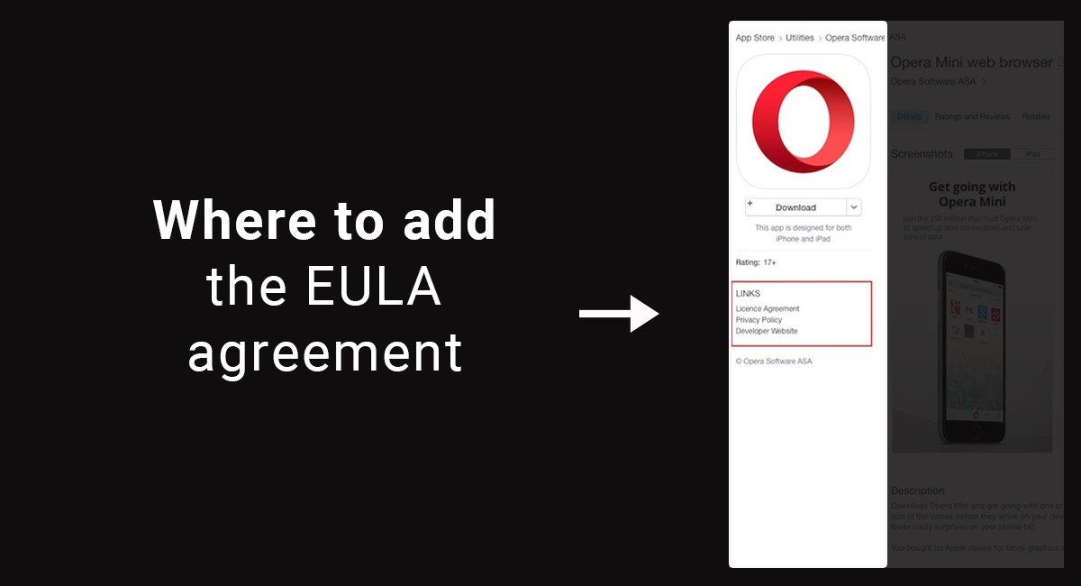 Where to add the EULA agreement