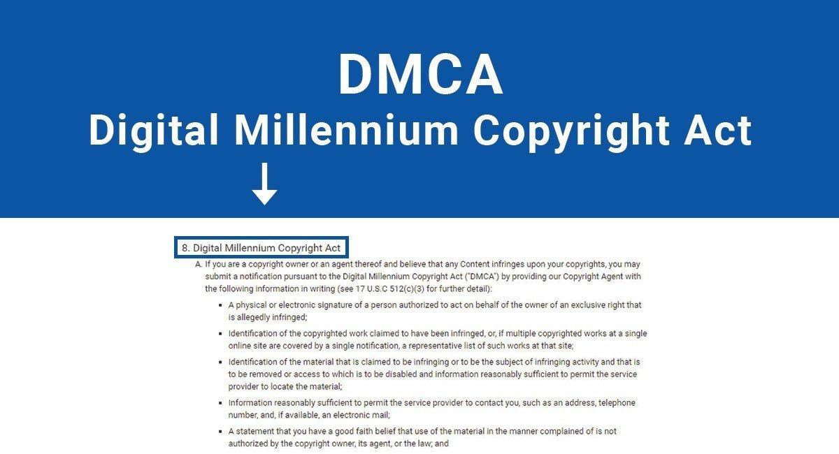 dmca digital millennium copyright act termsfeed
