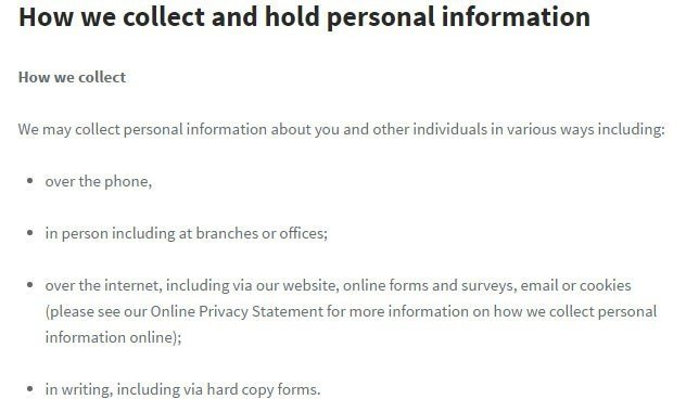 IAG Privacy Policy: How we collect information