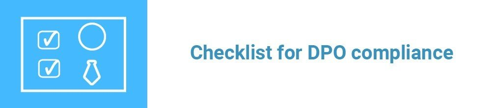 Checklist for DPO compliance