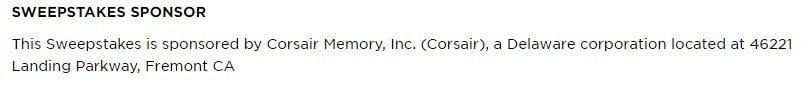 Corsair: Sponsor identification in sweepstakes