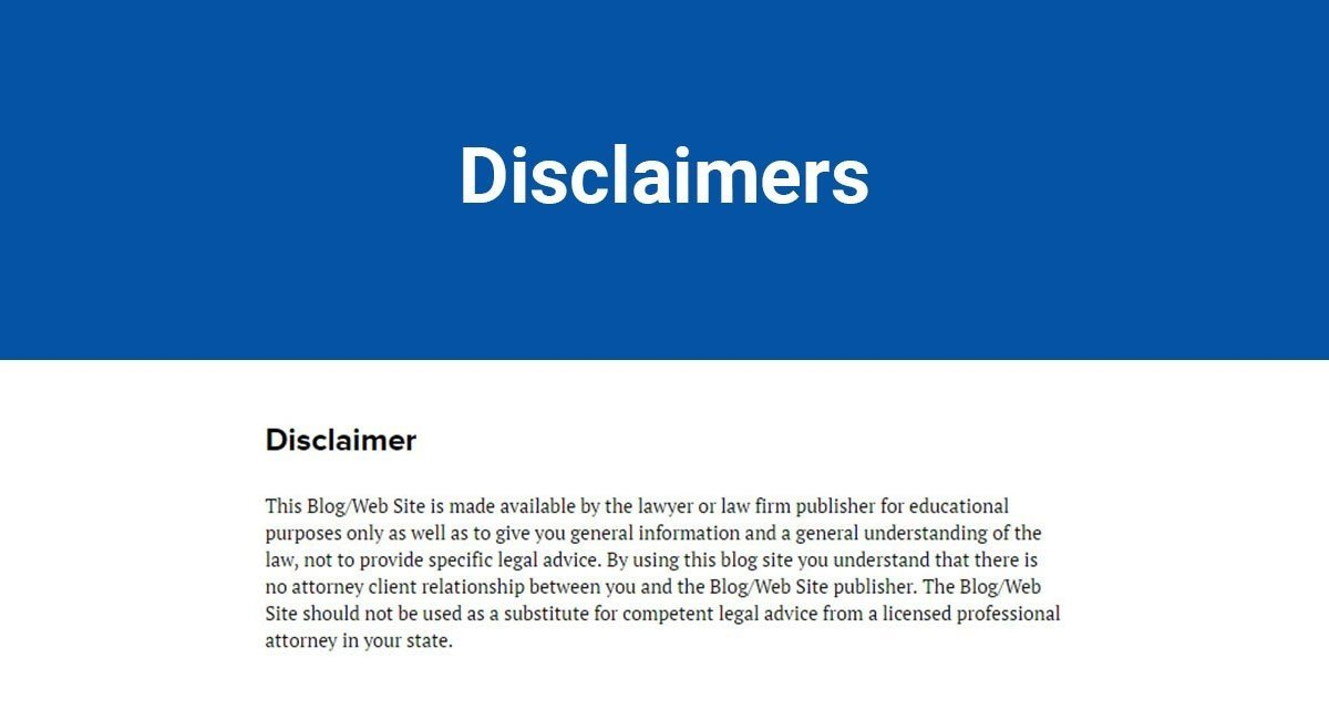 Sample disclaimer template termsfeed for Facebook disclaimer template