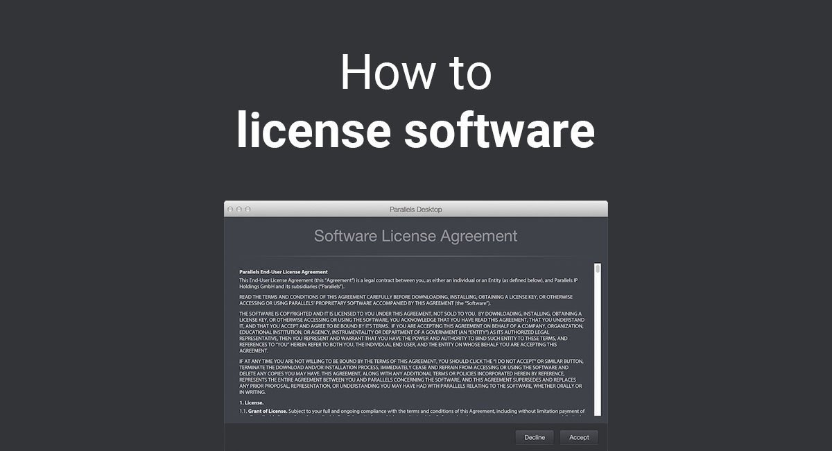 How To License Software Termsfeed