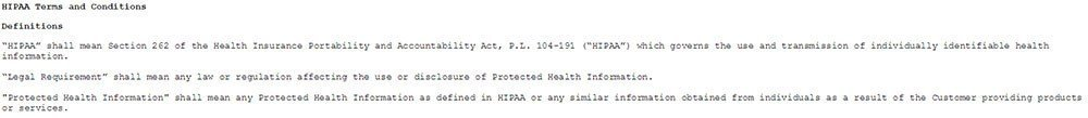 HIPAA reference in Med-IT Terms of Use