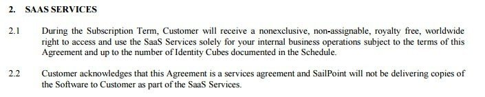 Saas Agreement Termsfeed