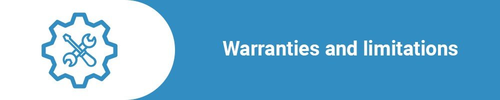 Warranties and limitations