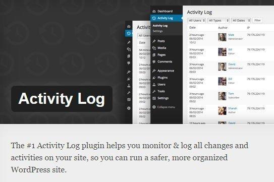Screenshot of Activity Log WordPress Plugin