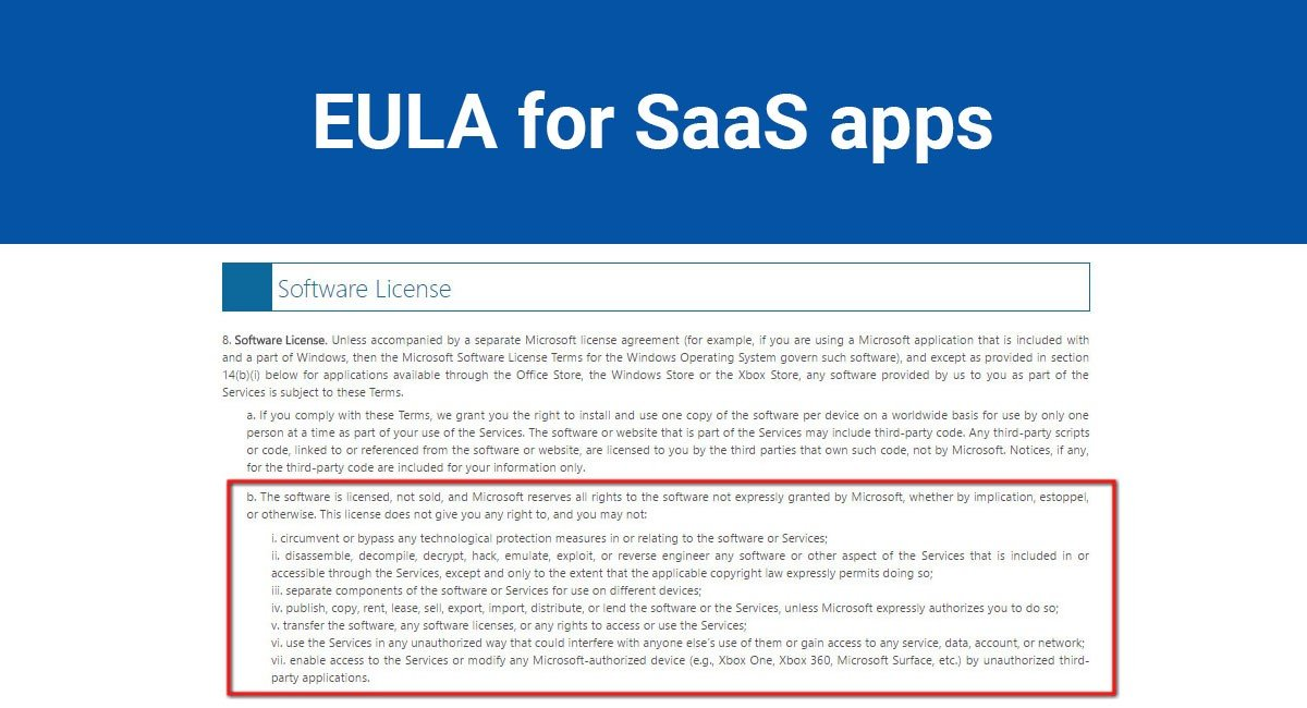 Image for: EULA for SaaS apps