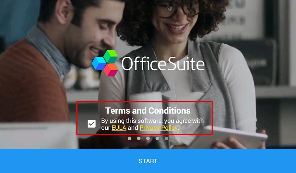 Office Suite: By using this software you agree to EULA and Privacy Policy