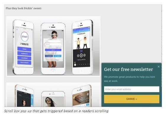 Screenshot of SumoMe WordPress Plugin