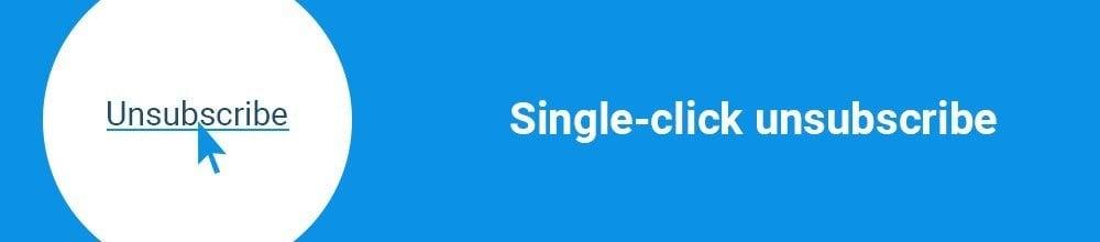 Single-click unsubscribe