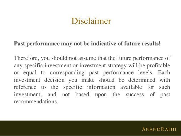 Anand Rathi Presentation with Past Performance Disclaimer