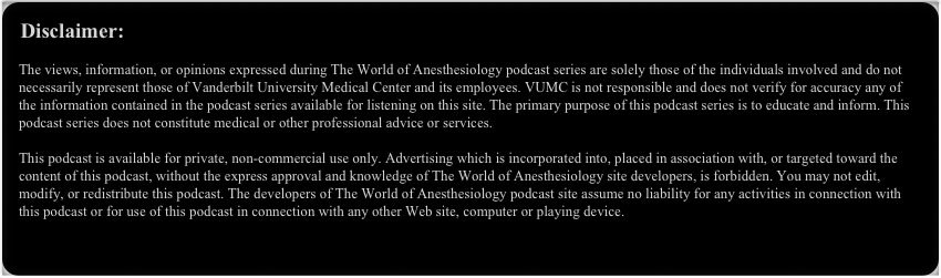 disclaimer from world of podcast