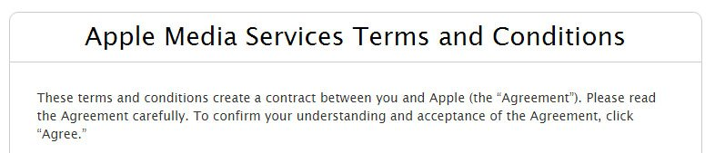 Apple Media Service: Terms & Conditions as name