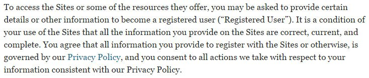 Business Insider UK: Terms & Conditions reference to Privacy Policy