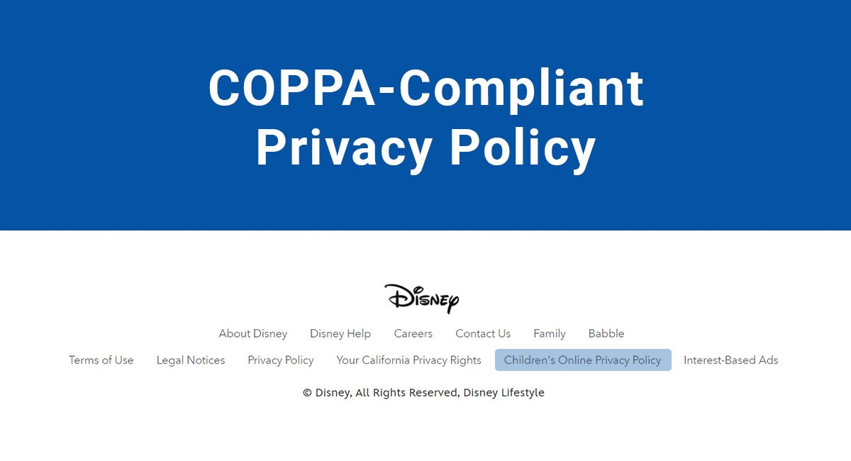 Image for: COPPA-Compliant Privacy Policy