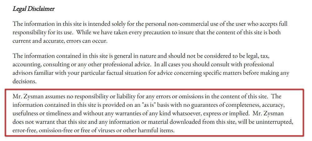 Disclaimer examples termsfeed for Legal advice disclaimer template