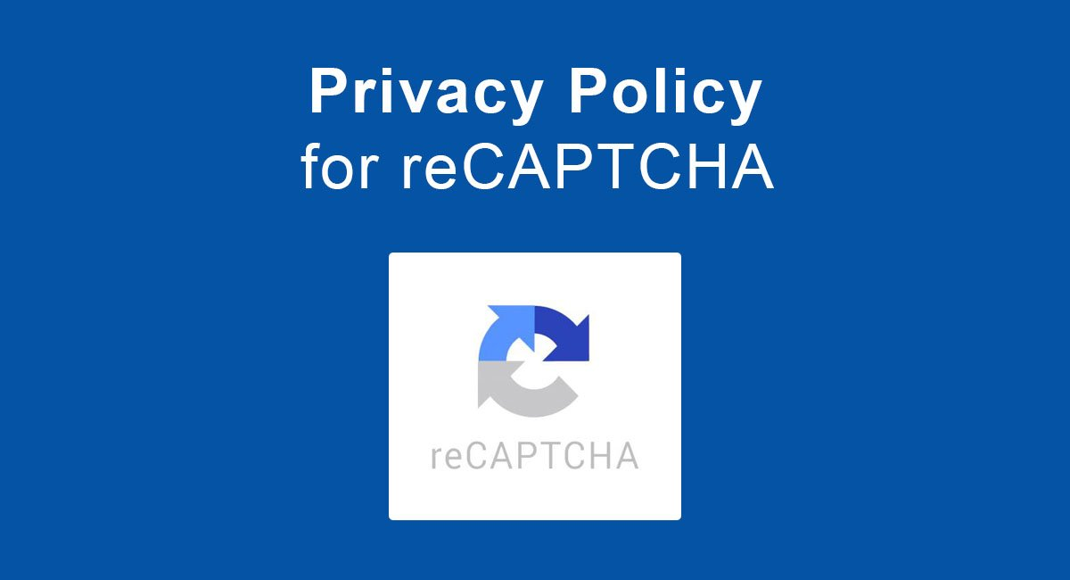 Image for: Privacy Policy for reCAPTCHA
