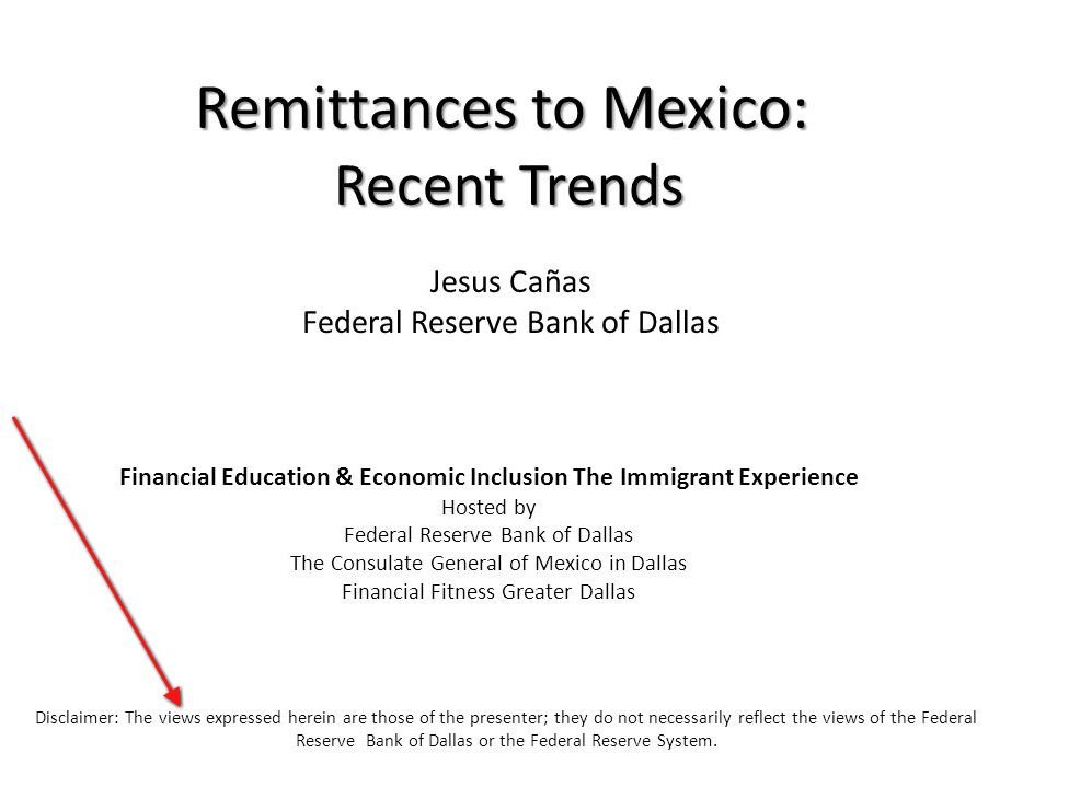Views expressed disclaimer by Jesus Canas from Federal Reserve Bank of Dallas